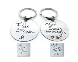 Couples Handwriting Keychains