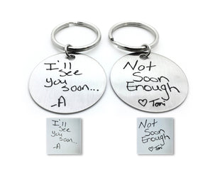 Couples Handwriting Keychains - Anomaly Creations & Designs