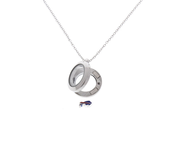 Buffalo Bills Floating Locket Necklace
