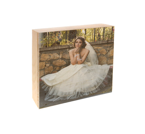 Wood Panel Photo-  Wedding