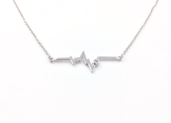 Electrocardiogram EKG Heartbeat Necklace - Anomaly Creations & Designs