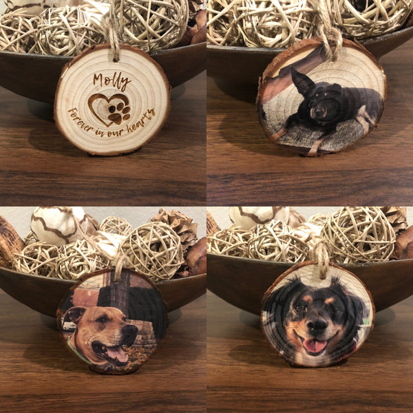 Wood Ornament - Pet Keepsake (Actual Paw Print)