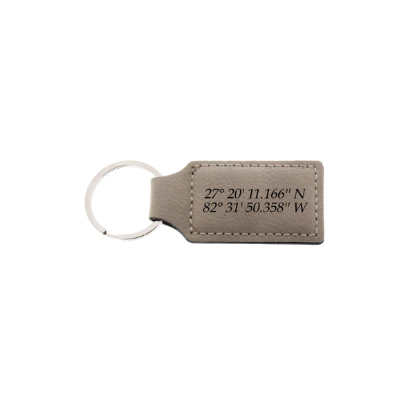 Actual handwriting leather keychain