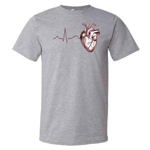 Anatomy Heart ECG Men's T-Shirt - Anomaly Creations & Designs