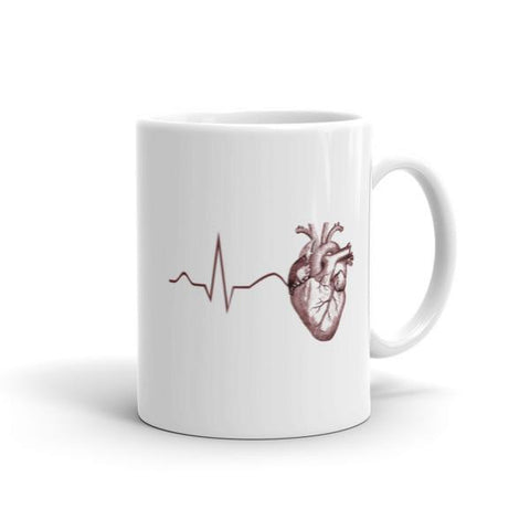 Anatomy Heart ECG Mug - Anomaly Creations & Designs