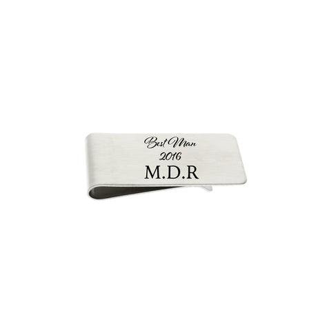 Money Clip - Best Man (customize)