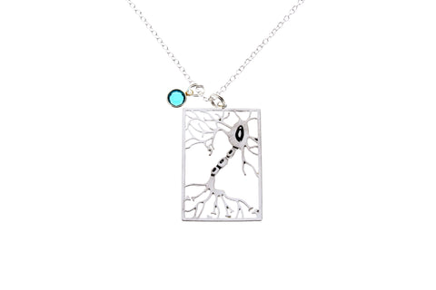 Neuron Necklace with Swarovski Birthstone