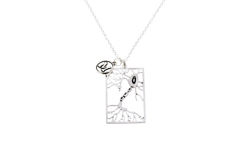 Neuron Necklace with Initial Charm