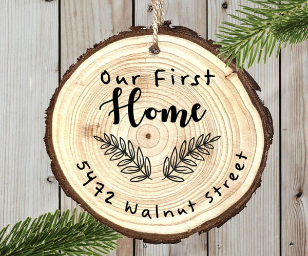 Wood Ornament - Our First Home