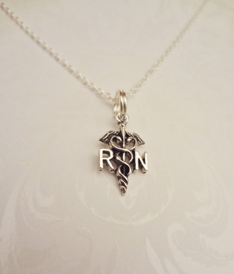 RN Registered Nurse Necklace - Anomaly Creations & Designs  - 2