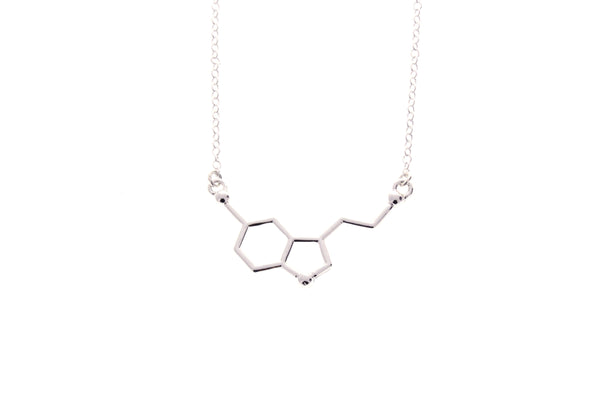 Serotonin Molecule Necklace