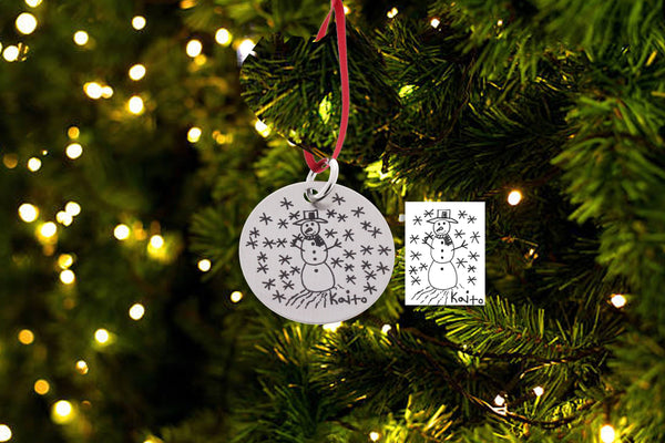 Christmas Ornament - Custom Drawing