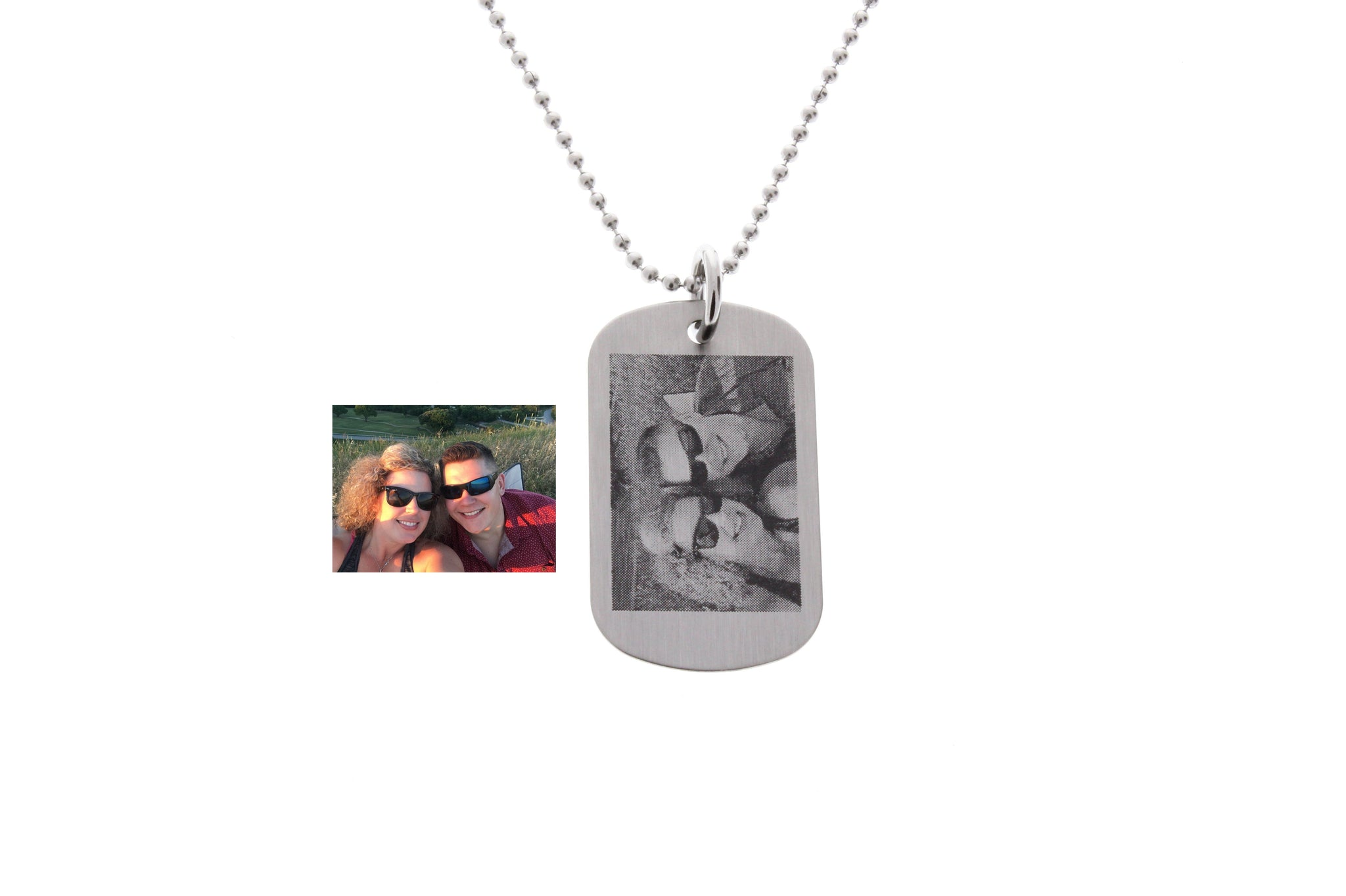 Photograph Necklace Dog Tag