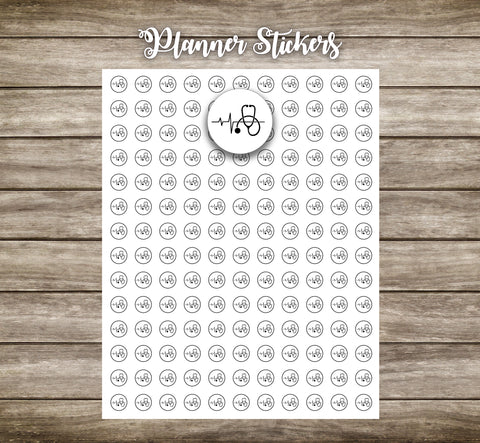 Planner stickers- Doctors appointment/stethoscope