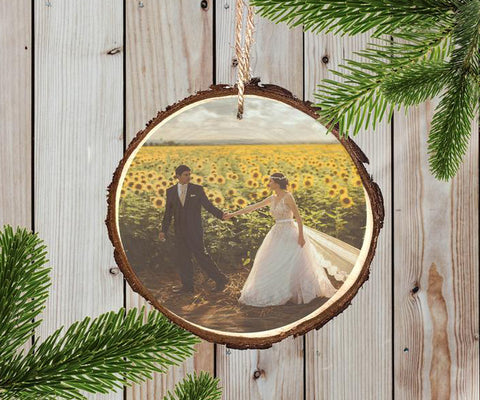 Wood Ornament - Wedding Keepsake
