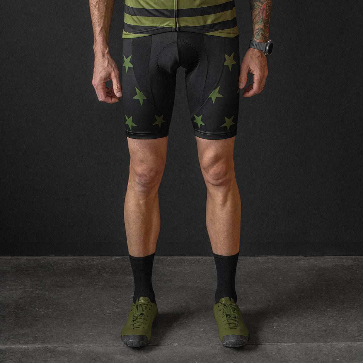 Freedom Machine Bib Shorts (Olive)