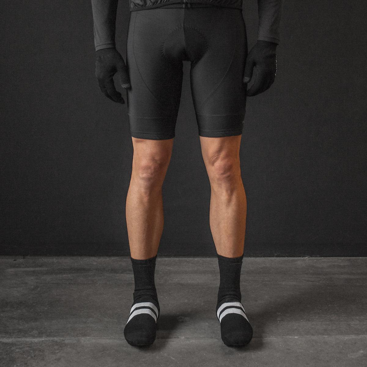 Black Thermal Bib Short