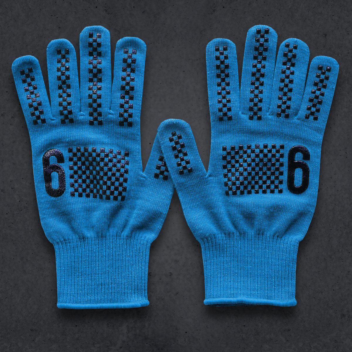 T6 Knit Glove (COOLMAX) (CYAN)