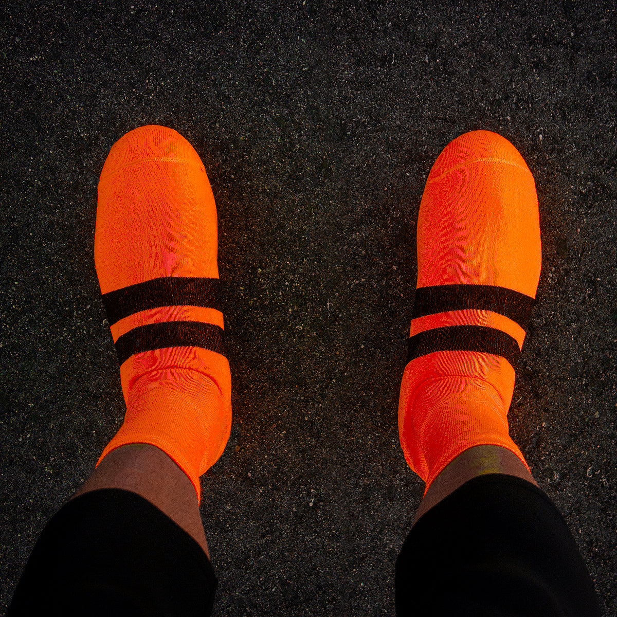 T6 Knit Shoe Covers (COOLMAX) (NEON ORANGE)