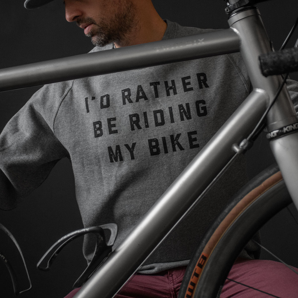 Rather Be Riding Sweatshirt (GRAY)