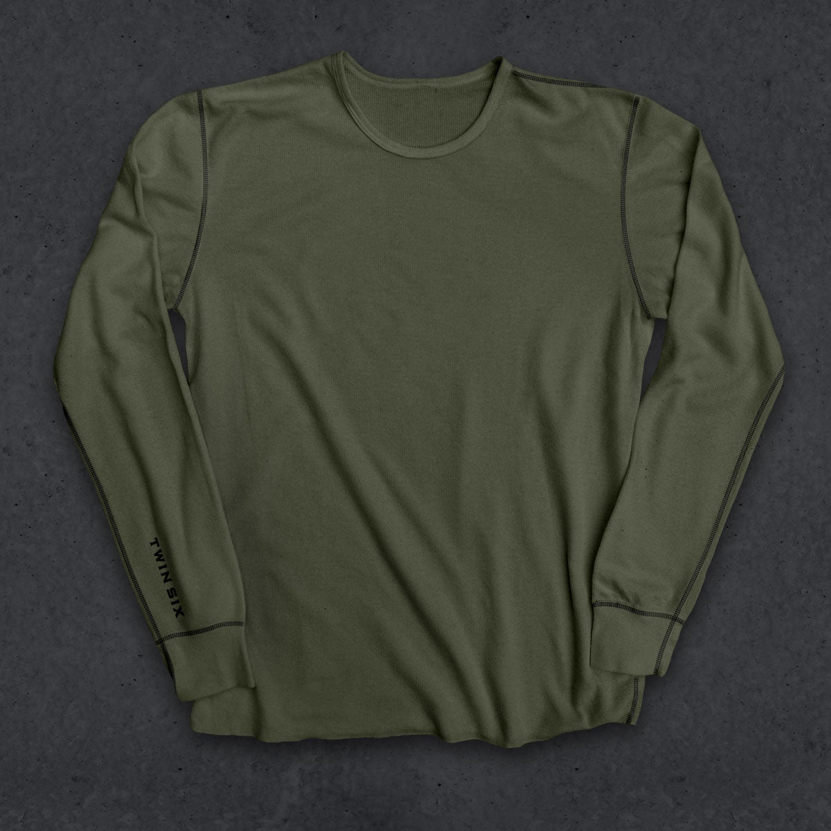 T6 Thermal (LS) (Military Green W/ Black Stitch)