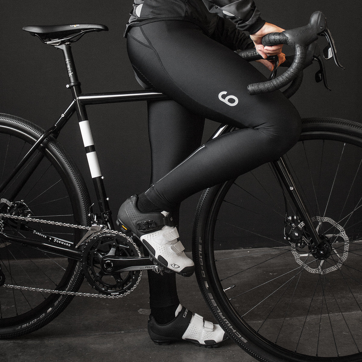 Black Thermal Bib Tights (W)