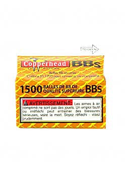 CROSMAN COPPERHEAD BB'S 1500 COUNT