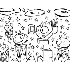 be good monster free coloring page