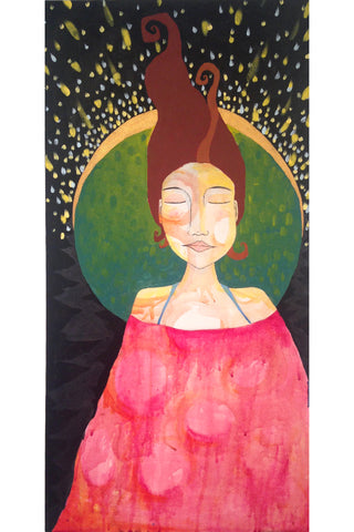 Powerful goddess painting by Lea K. Tawd