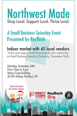 Northwest Made 2018 Small Business Saturday Mercy Corps NW