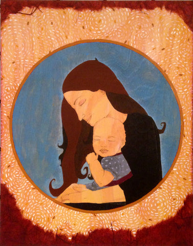 Mother and child portrait by Portland artist Lea K. Tawd