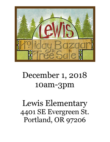 Lewis Elementary Holiday Bazaar and Christmas Tree Sale