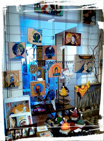 Artist Lea K. Tawd's work at Off the Walls! Gallery in Shelton, WA