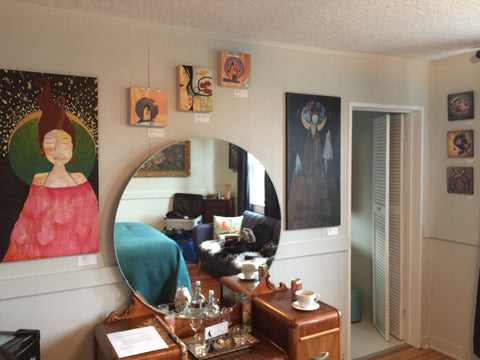 Artist Lea K. Tawd's art at the Starry Night Inn Oregon