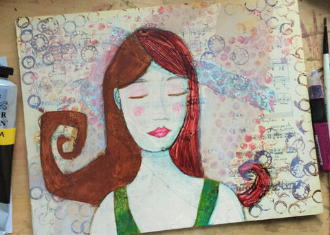 mixed media painting class in Portland Oregon