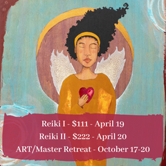 Reiki classes art by Lea K. Tawd