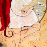 Detail of Belly Dance painting by Lea K. Tawd