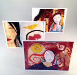 """Inner-scape"" - Set of 6 greeting cards - Blank Inside"