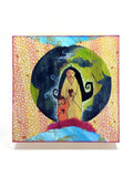 Mother & child Earth art print by Lea K. Tawd