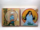 Feminine Goddess Art prints mounted on wood by Lea K. Tawd