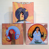 Goddess Art prints mounted on wood panels by Lea K. Tawd