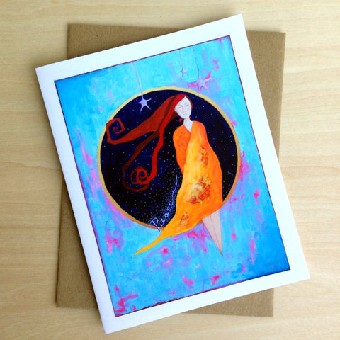 """Peace"" - Greeting Card - Holiday Card - Blank Inside"