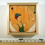 framed painting of woman by Portland artist Lea K. Tawd