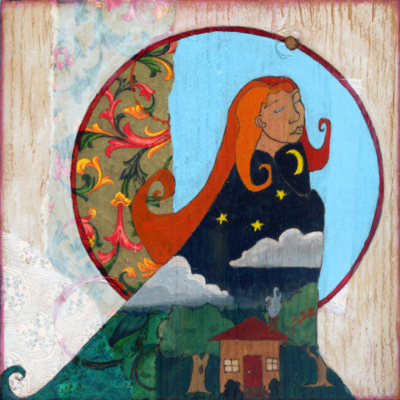 ginger goddess of night and home art by Lea K. Tawd