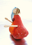 whimsical art doll side view by Lea K. Tawd