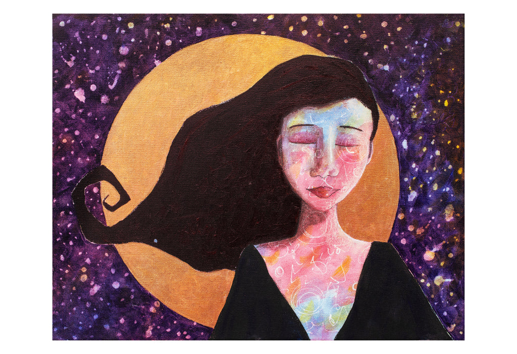full moon goddess limited edition giclee print