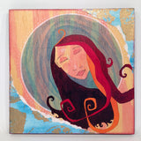 Water goddess art by Portland artist Lea K. Tawd