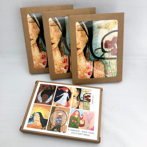 Set of 6 Lea K. Arts Note Cards - Blank Inside
