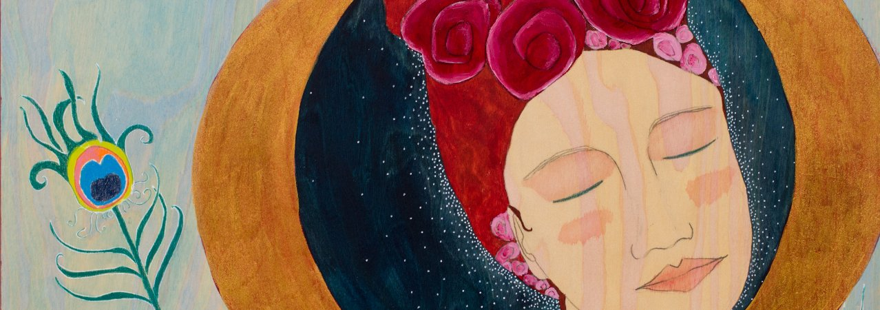 crescent moon feminine art