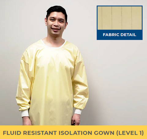 Fluid Resistant Isolation Gown (Level 1) #1621, PRE-ORDER Available first week of August